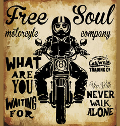 t-shirt graphics motorcycle company vector image