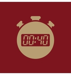 The 40 seconds minutes stopwatch icon clock and vector