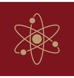 The atom icon atom symbol flat vector