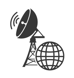 transmitting antenna tower vector image