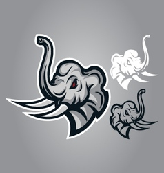 elephant head sing logo vector image