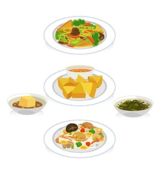 vegetarian vector image