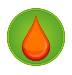 medic symbol blood drop red color vector image