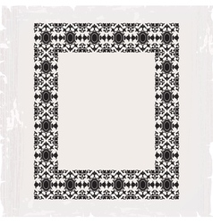 Ornamental frame vintage in editable vector
