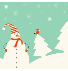 Christmas decoration with snowman vector