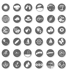 Summer time buttons vector