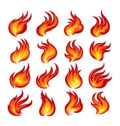 fire flame emblem set vector image