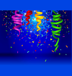 Birthday background with colorful balloons vector