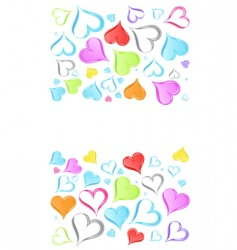 rainbow hearts background vector image