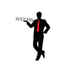 Success businessman color vector
