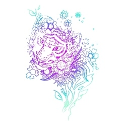 Abstract graphic colored tiger print vector