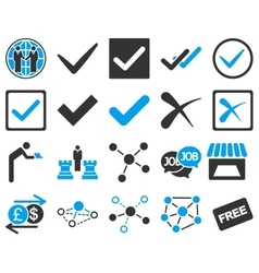 Agreement and trade links icon set vector