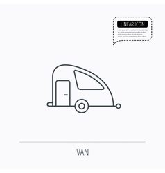 Travel van icon holiday camper sign vector