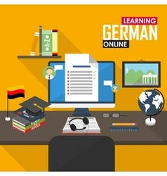 E-learning german language vector