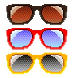 Pixel sunglasses isolated vector