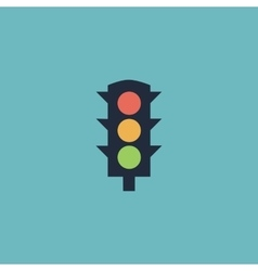 Simple traffic light vector