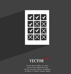 Bingo lottery symbol flat modern web design with vector