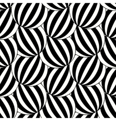 The pattern of black and white striped circles vector
