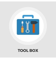 Tool box icon flat vector