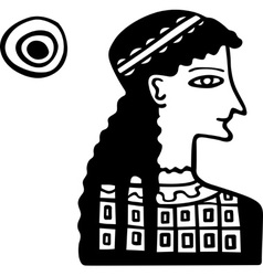 Ancient Greek lady vector image