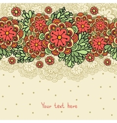Cute floral romantic background vector image