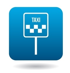 Taxi car sign icon in flat style vector