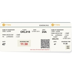 a boarding pass vector image vector image