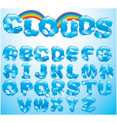 Alphabet cloud letters vector image