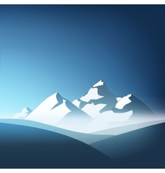 Beautiful mountain landscape with blue sky on the vector