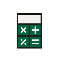 Calculator icon on white background vector