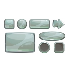 Cartoon silver game assets vector image vector image