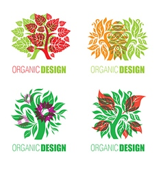 floral logo set 2 vector image vector image