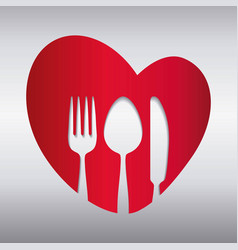 fork spoon knife cutlery symbol vector image