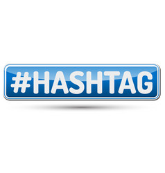 hashtag - abstract beautiful button with text vector image