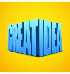 Letters great idea on bright background vector