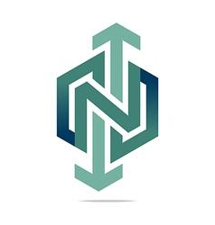 Logo abstract arrow symbol hexa connecting icon vector