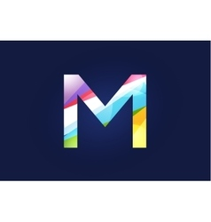 M letter logo icon symbol vector image vector image