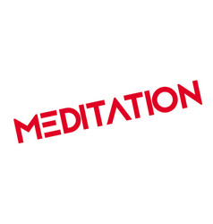 Meditation rubber stamp vector
