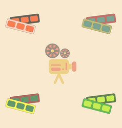 Movie tickets collection in vector