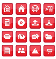 office set icons vector image vector image