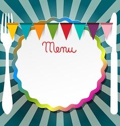 Restaurant or bistro menu retro design vector