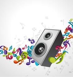 speaker music background vector image vector image