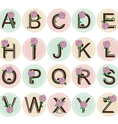 sweety alphabet vector image vector image