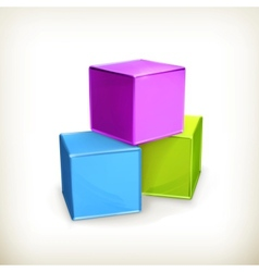 Toy cubes vector image vector image