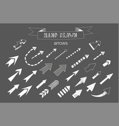 Unique collection of hand drawn arrows vector