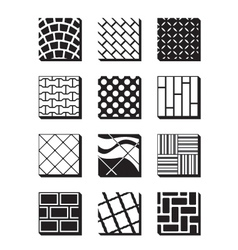 Various external building surfaces vector