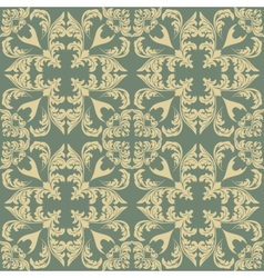 Vintage geometric floral classic pattern vector