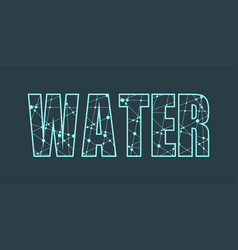 Water word lettering vector