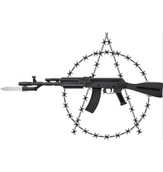 Weapon of anarchy vector