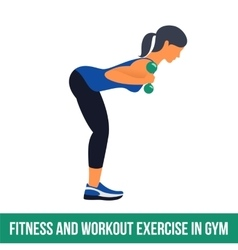 Aerobic icons workout vector